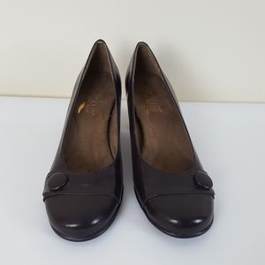 "AEROSOLES Heelrest ""Marina"" Brown Leather Shoes"